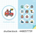 icon set emergency vector | Shutterstock .eps vector #448057759