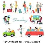 travelling autostop flat. set... | Shutterstock . vector #448062895