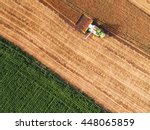 Aerial View On The Combine...
