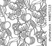 seamless pattern in doodle... | Shutterstock .eps vector #448071115