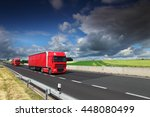 truck transportation on the... | Shutterstock . vector #448080499
