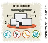 infographics icon. retro design.... | Shutterstock .eps vector #448085371