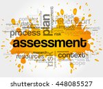 assessment word cloud collage ...   Shutterstock .eps vector #448085527