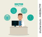 doctor icon. medical and health ...   Shutterstock .eps vector #448086799