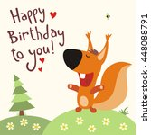 happy birthday to you  funny... | Shutterstock .eps vector #448088791