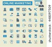 online marketing icons   Shutterstock .eps vector #448097509
