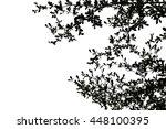 Black Leaves Tree In White...