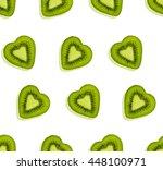 Kiwi Fruit Seamless Pattern....