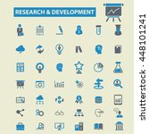research development icons | Shutterstock .eps vector #448101241