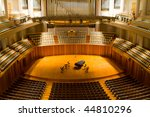 Modern Concert Hall With Piano...