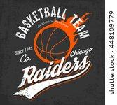 raiders basketball team logo or ... | Shutterstock .eps vector #448109779