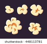popcorn set on a black... | Shutterstock .eps vector #448113781