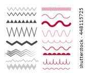 Seamless Zig Zag And Wave Line...