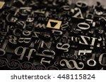 historical letterpress types ... | Shutterstock . vector #448115824
