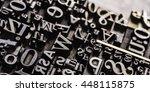historical letterpress types ... | Shutterstock . vector #448115875
