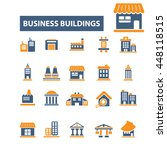 business buildings icons | Shutterstock .eps vector #448118515