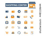 shopping center icons | Shutterstock .eps vector #448118644
