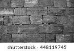 Old Stone Wall. Background...