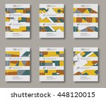 abstract design templates set.... | Shutterstock .eps vector #448120015