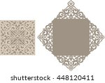 laser cut invitation card.... | Shutterstock .eps vector #448120411