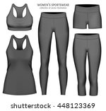 women's sportswear. collection... | Shutterstock .eps vector #448123369