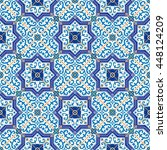 gorgeous seamless pattern from... | Shutterstock . vector #448124209