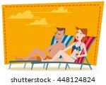 A Couple Resting On Deckchairs...
