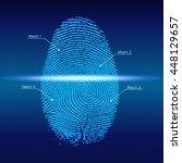 fingerprint scan  vector | Shutterstock .eps vector #448129657