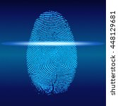 fingerprint scan  vector   Shutterstock .eps vector #448129681