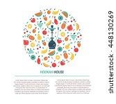 vector hookah logo design... | Shutterstock .eps vector #448130269