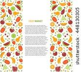 vector fruit banner or flyer... | Shutterstock .eps vector #448130305
