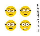 different cute faces vector... | Shutterstock .eps vector #448131175