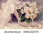 beautiful luxury bouquet and... | Shutterstock . vector #448132474