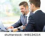 two confident business people... | Shutterstock . vector #448134214