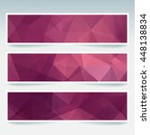 abstract banner with business...   Shutterstock .eps vector #448138834