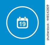 calendar icon | Shutterstock .eps vector #448142809