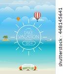 summer seaside vacation... | Shutterstock .eps vector #448145641
