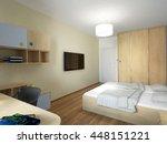 3d rendering of a bedroom... | Shutterstock . vector #448151221