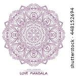 Vector Mandala For Coloring...