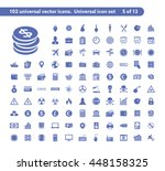 102 universal vector icons. the ...   Shutterstock .eps vector #448158325
