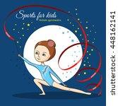 artistic gymnastics. girl in... | Shutterstock .eps vector #448162141