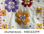 Embroider Flowers On White...