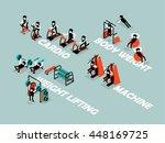 beautiful isometric flat design ... | Shutterstock .eps vector #448169725