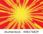 red yellow pop art retro... | Shutterstock .eps vector #448176829