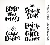 vector set of lettering phrase. ... | Shutterstock .eps vector #448178437