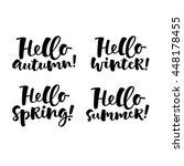 vector set of lettering phrase. ... | Shutterstock .eps vector #448178455