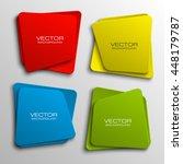 design shape origami vector... | Shutterstock .eps vector #448179787