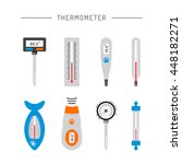 image thermometer icons are... | Shutterstock .eps vector #448182271