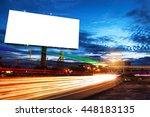 billboard blank for outdoor... | Shutterstock . vector #448183135