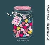 postcard valentine's day. image ... | Shutterstock .eps vector #448183429